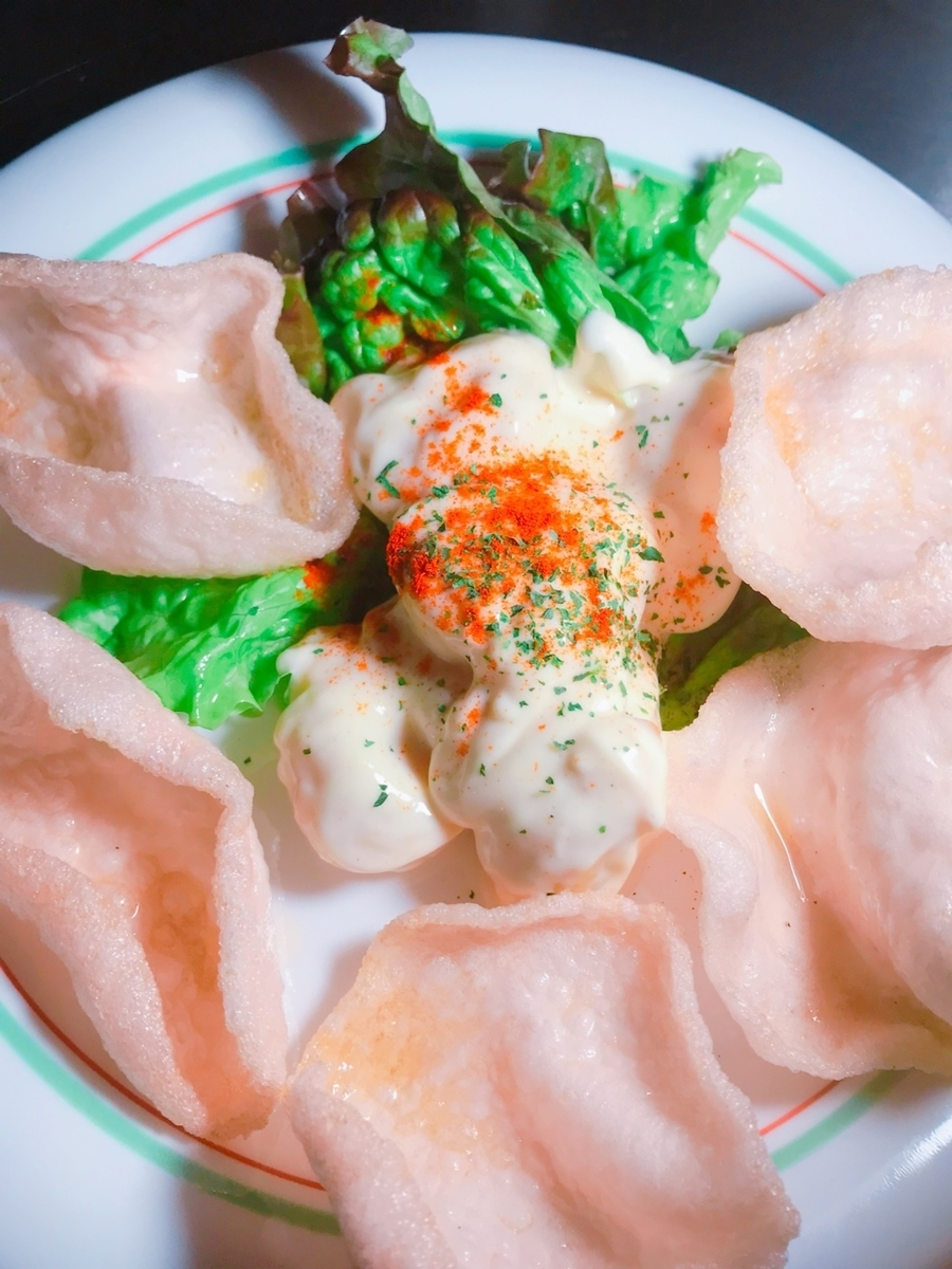 Shrimp with mayonnaise