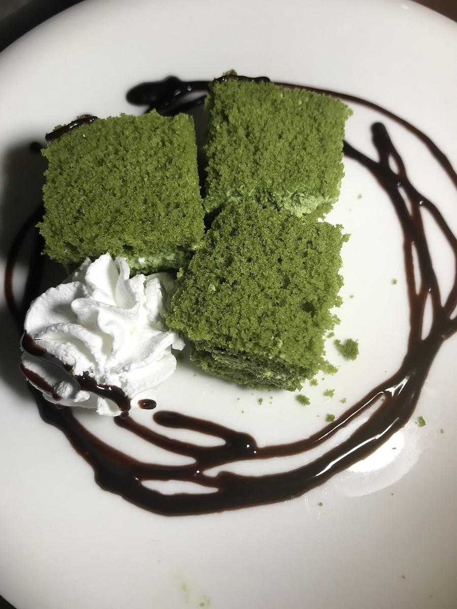 녹차 케이크