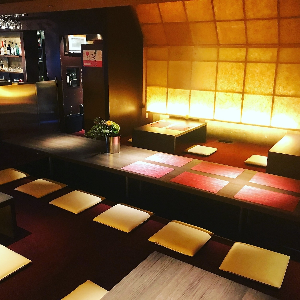 Excellent atmosphere! Space where you can dine calmly!