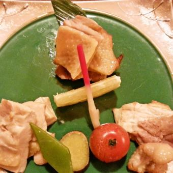 比内地鶏の炙り盛り合わせ(130g)