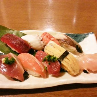 おまかせにぎり寿司8貫