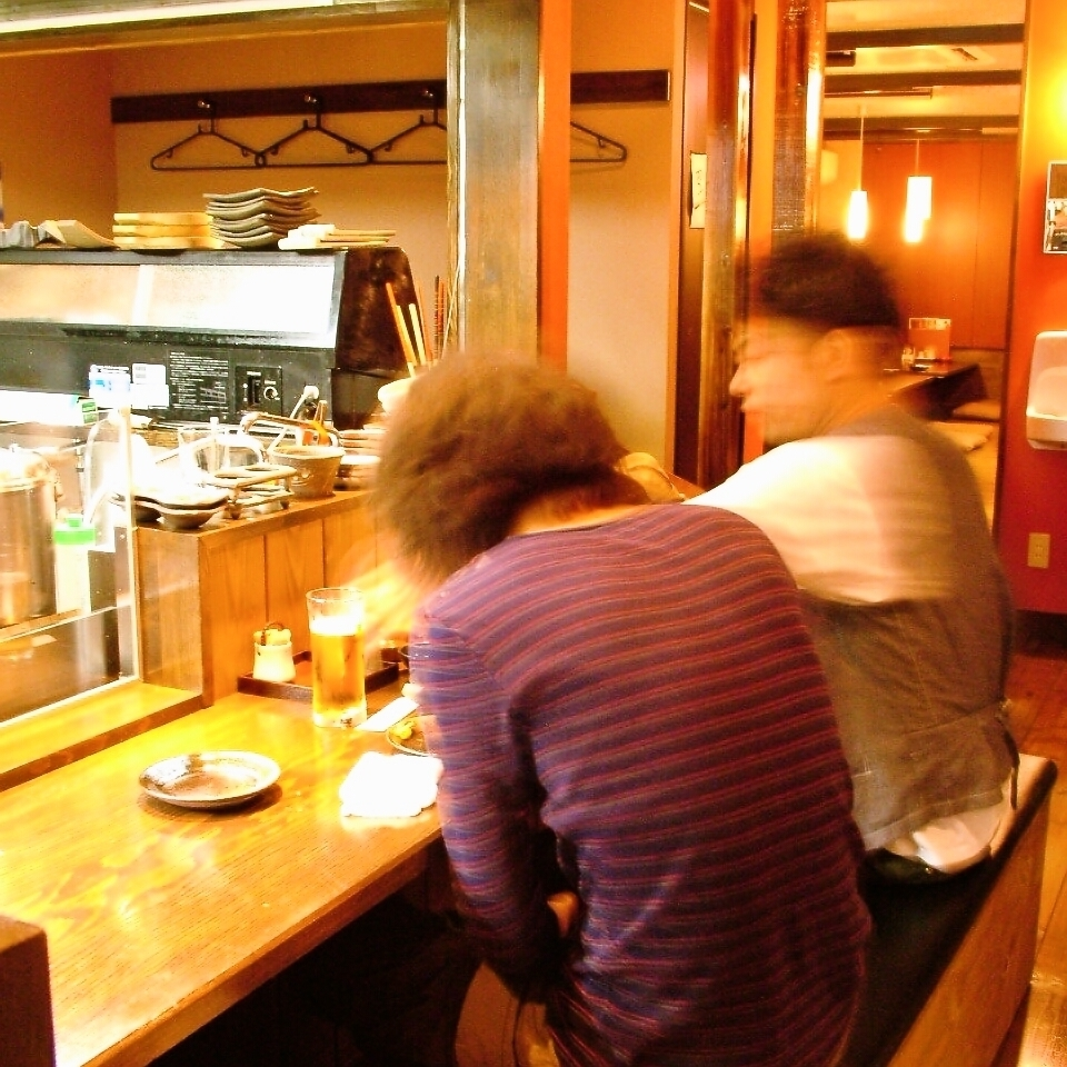 Special seats that you can enjoy teppanyaki in front of you ♪ Perfect for date!