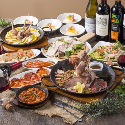 新年派對·派對♪午餐套餐★紋身肉·肉·肉!【肉套餐】5000日元(含稅)