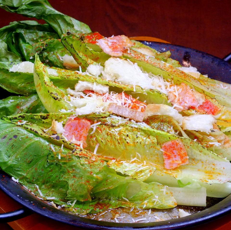 Romein生菜热凯撒沙拉