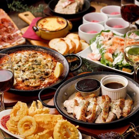 新年派对·派对♪愉快的选择【西班牙海鲜饭鸡肉当然3500日元(含税)