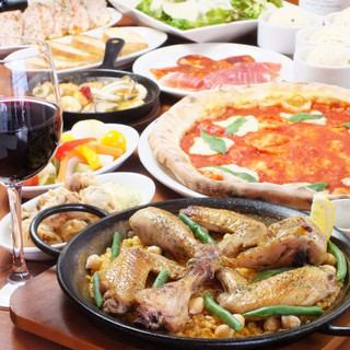 New Year party · Party ♪ Lunch course ★ Pleasant selection 【Paella pork】 course 4000 yen (tax included)