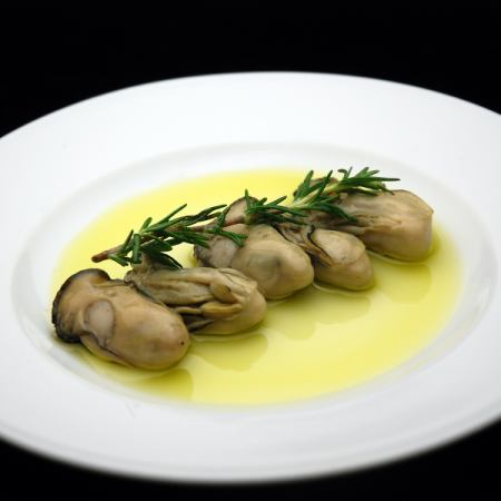 Herb oil pickled oysters