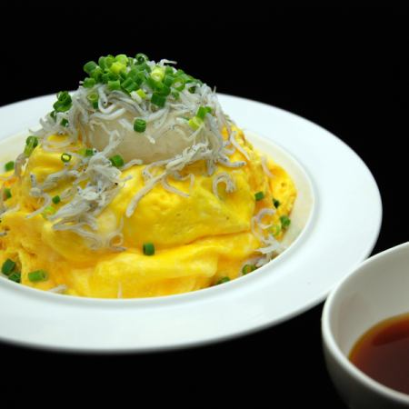 Omelette rice of Shirasu and grated radish