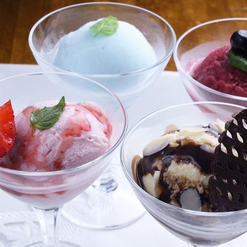 アイスクリーム<バニラ・チョコ・ストロベリー>