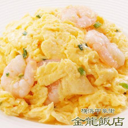 炒虾和鸡蛋