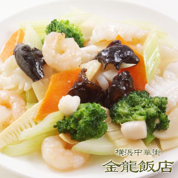 3種海鮮の炒め