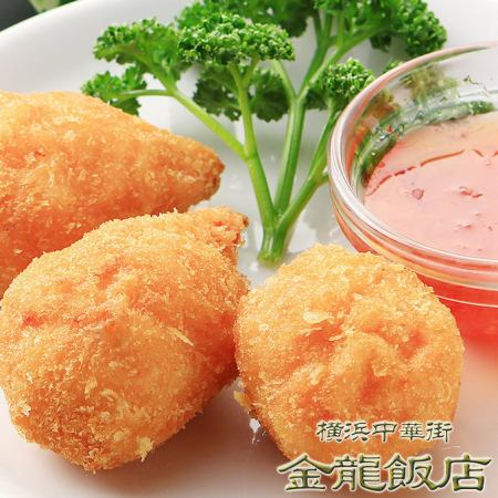 Deep-fried crab with crab meat