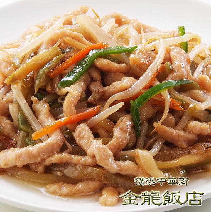 搾菜と豚肉細切り炒め