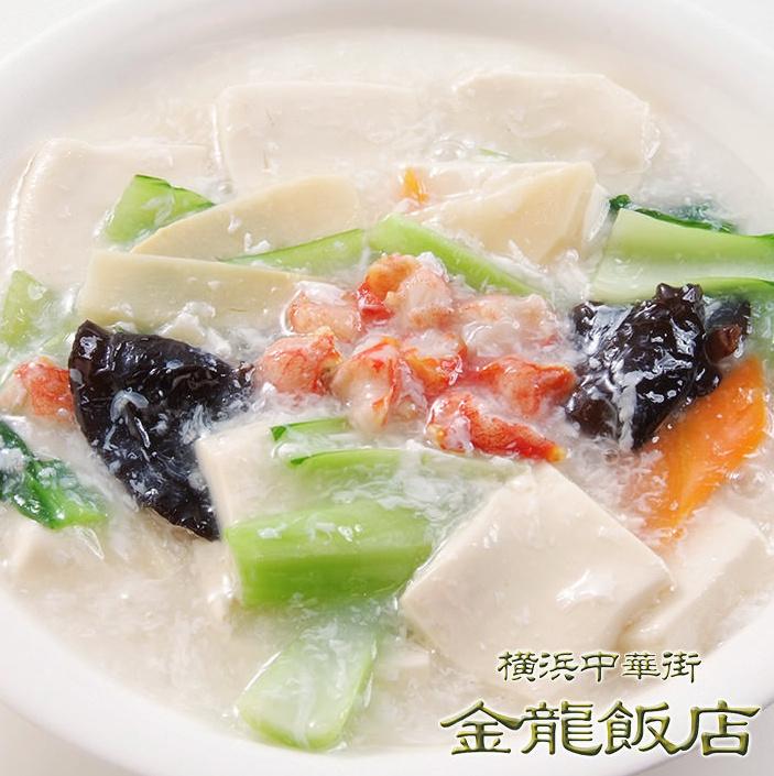蟹肉と豆腐の煮込み(※写真)/ブロッコリーの干貝柱あんかけ