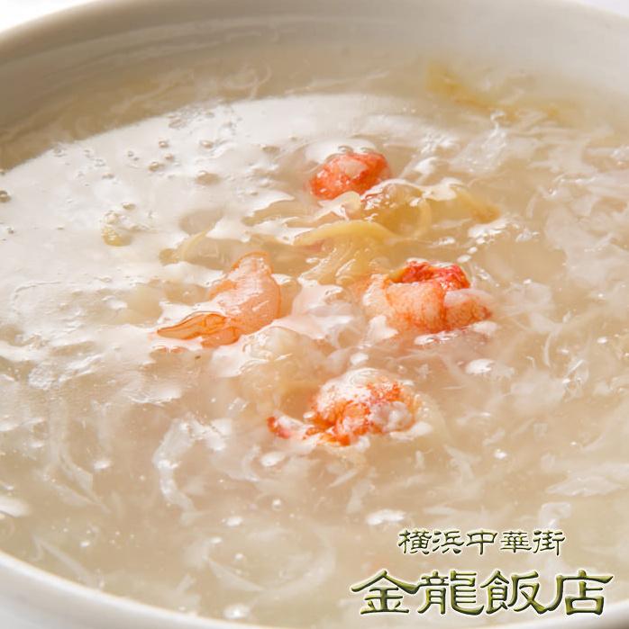 蟹肉フカヒレスープ(※写真)/五目おこげ