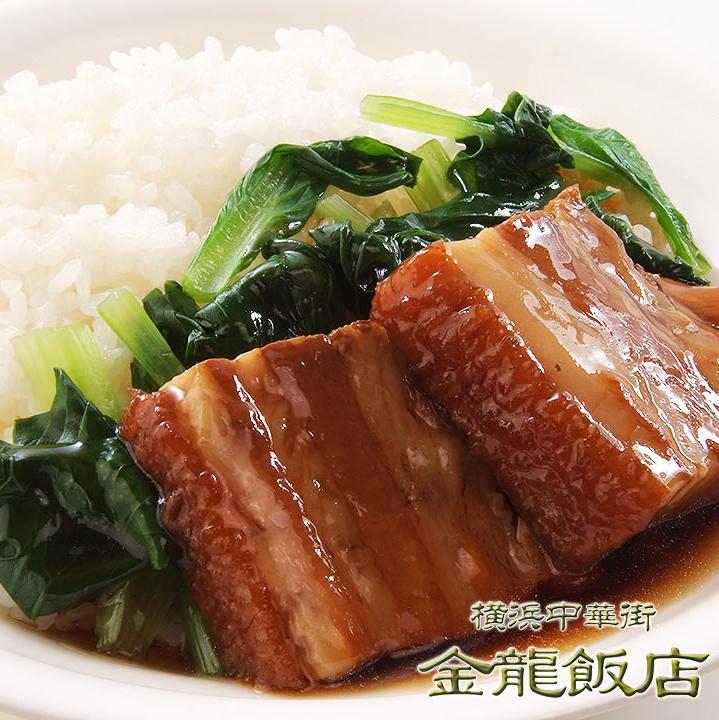 豚角煮ご飯 (※写真)/五目あんかけご飯