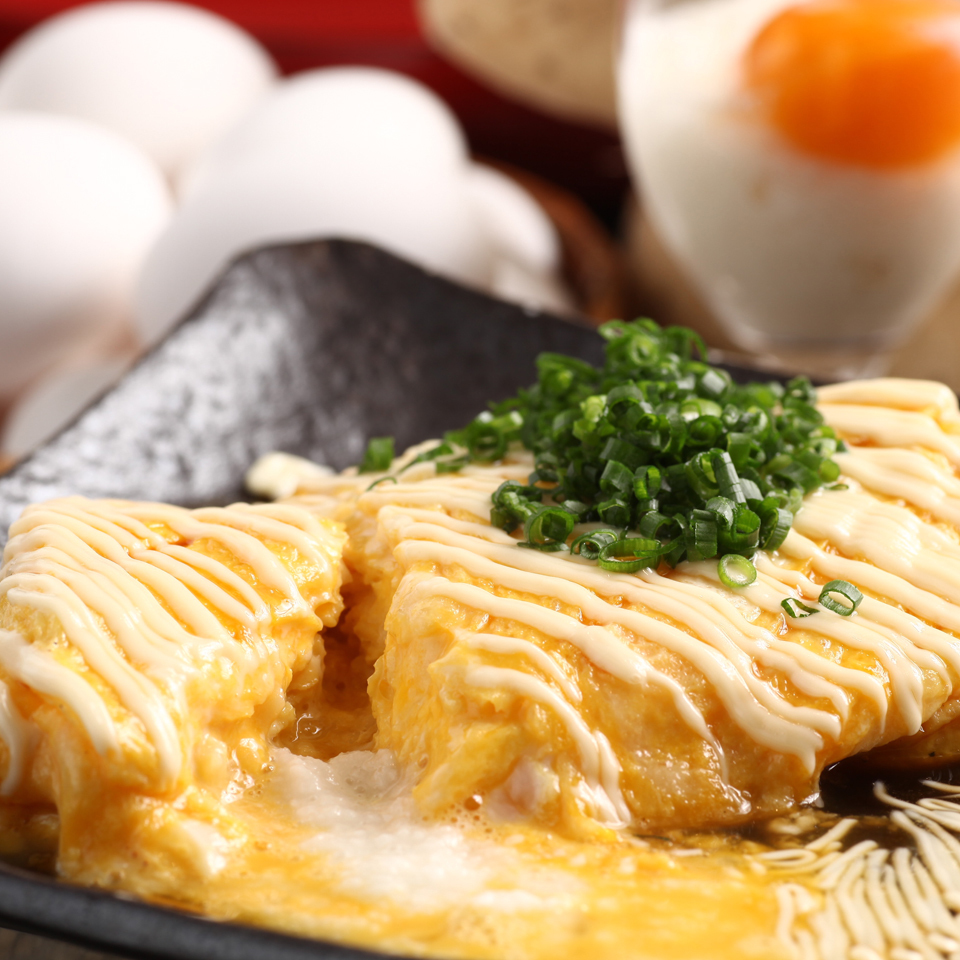 Grilled chicken with egg