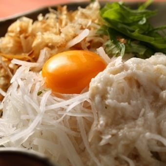 シャキシャキ大根のとろろドレッシングサラダ/定番オニオンサラダ
