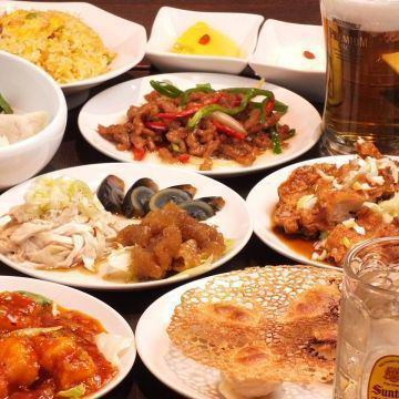 All 11 items of Kanohana course (plus 1780 yen for 2 hours with all you can drink!