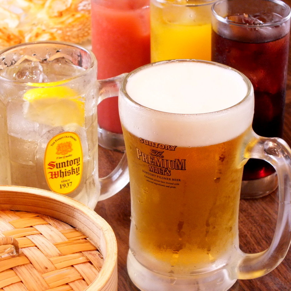 Cheers with cold beer and dumplings boasting in summer in summer!