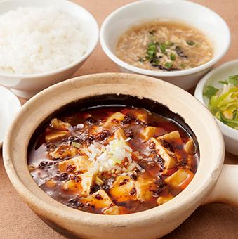 Mabo tofu set 1080 yen