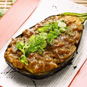 揚げ茄子の特製鰹味噌焼き