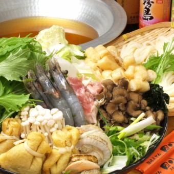 Secretary's must-see! Leisurely enjoy Course (Udon Sukinabe + cuisine 8 dishes) and 2 hours all you can drink with 4000 yen
