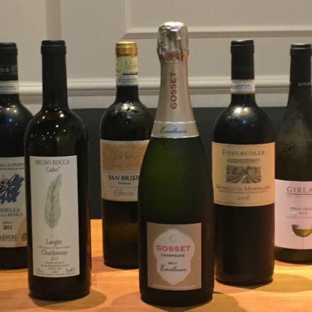 コース料理に合わせてワイン6種類付、全10品フルコース