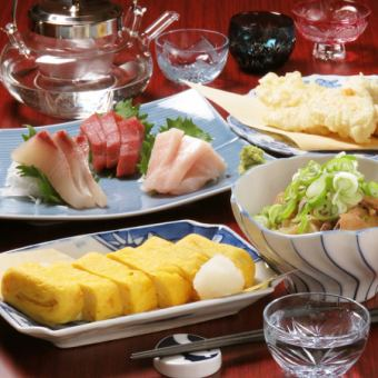 ● Tsubaki course ● 2 hours with all you can drink 6 items 3500 yen 【2.5 hours with coupon use】
