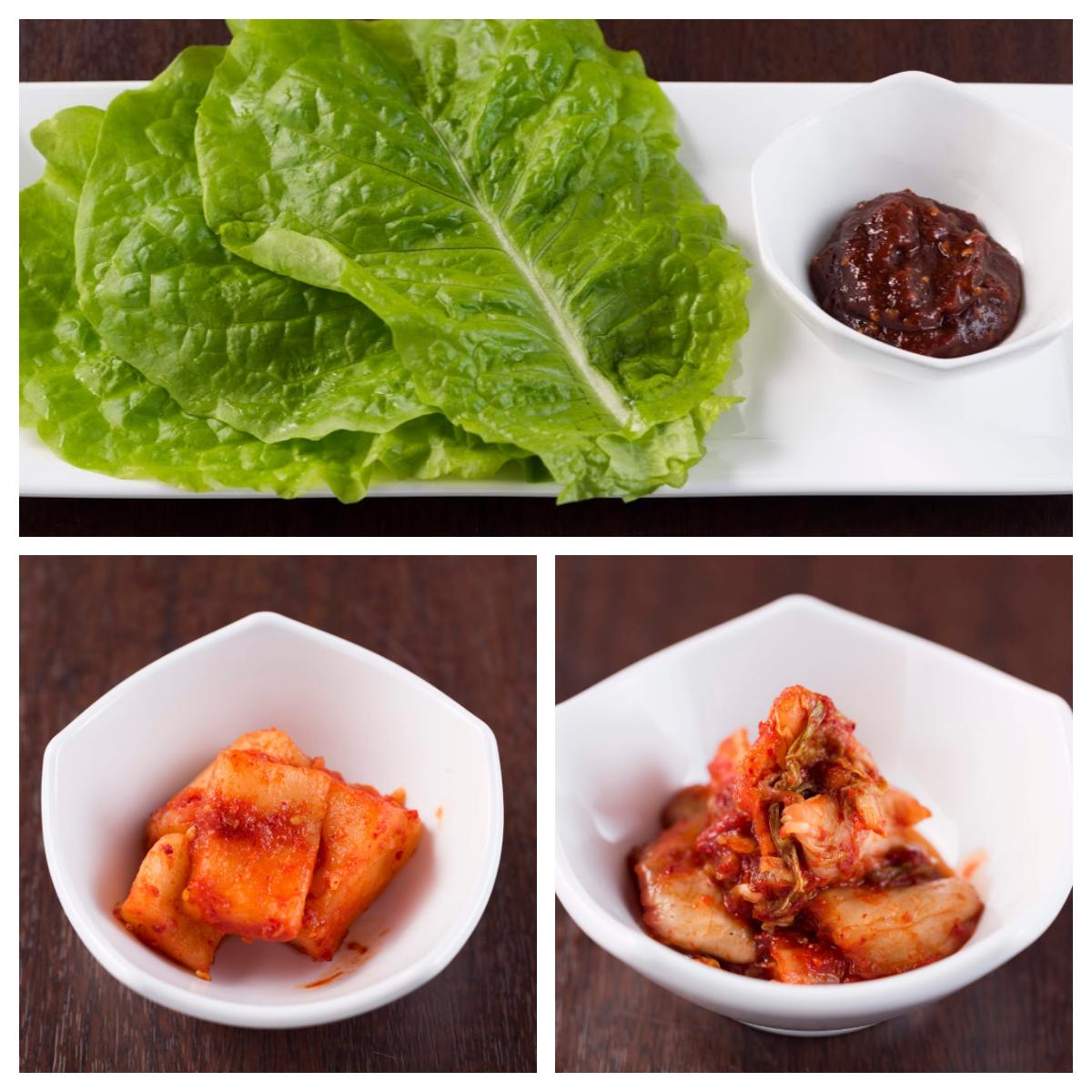 白菜キムチ/カクテキ/お肉のお供にサンチュ