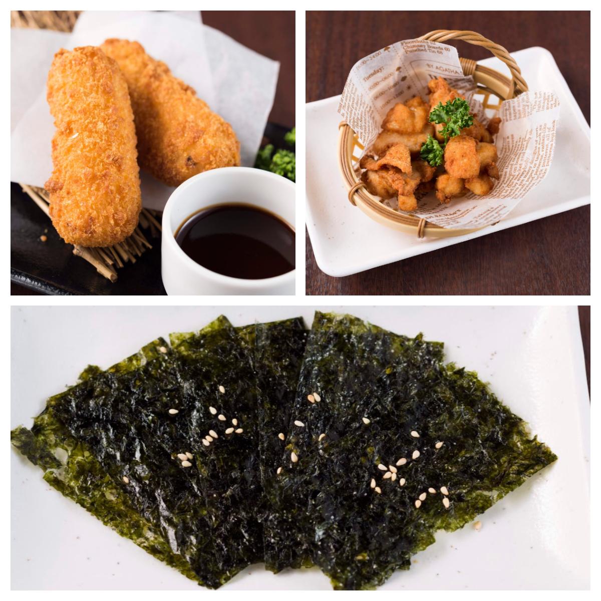 韓国のり/おいしい鶏から揚げ/濃厚カニクリームコロッケ