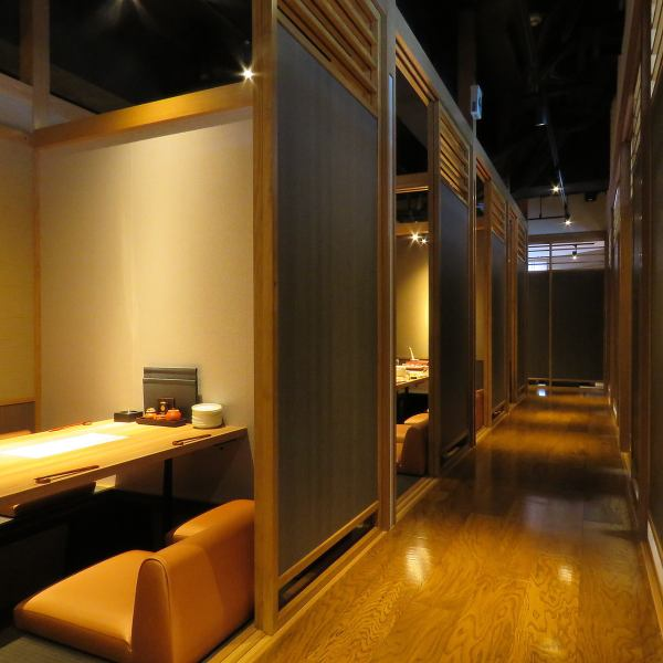 【Digging 炬燵 individual room】 Completely individual rooms of all 11 rooms.A calm adult space drifts the atmosphere of the woodgrained Japanese harmony.We prepare delicious meal and sake and wait for you! Feel free to preview etc!