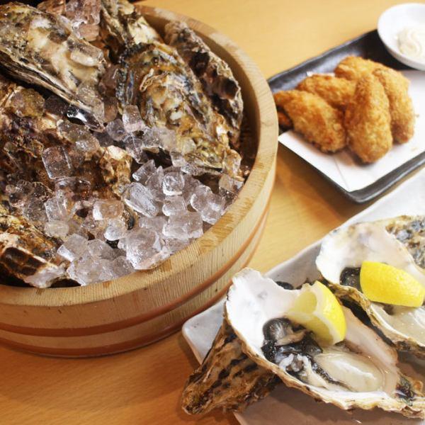 牡蠣菜餚280日元(不含稅)