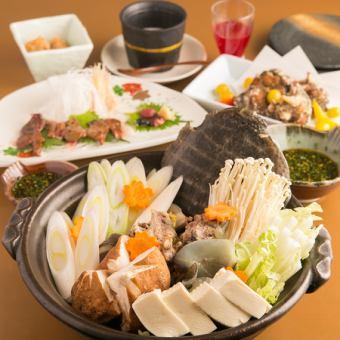 【すっぽんコース】デザート付き全7品 7,500円/人