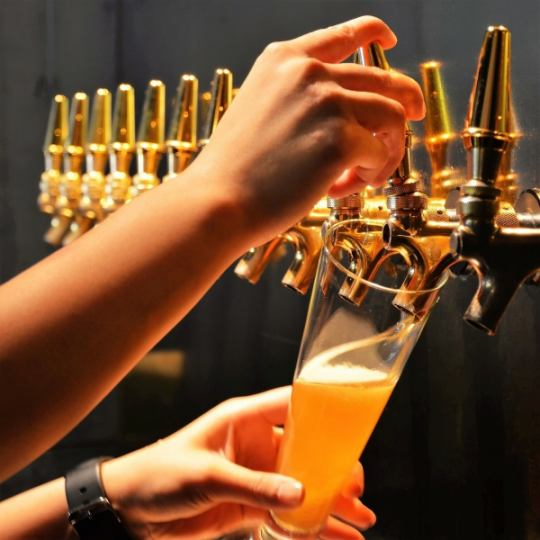 We have 13 types of craft draft beer at all times