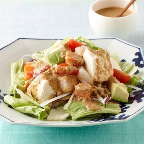 豆腐のピリ辛サラダ(ピリ辛ドレッシング)