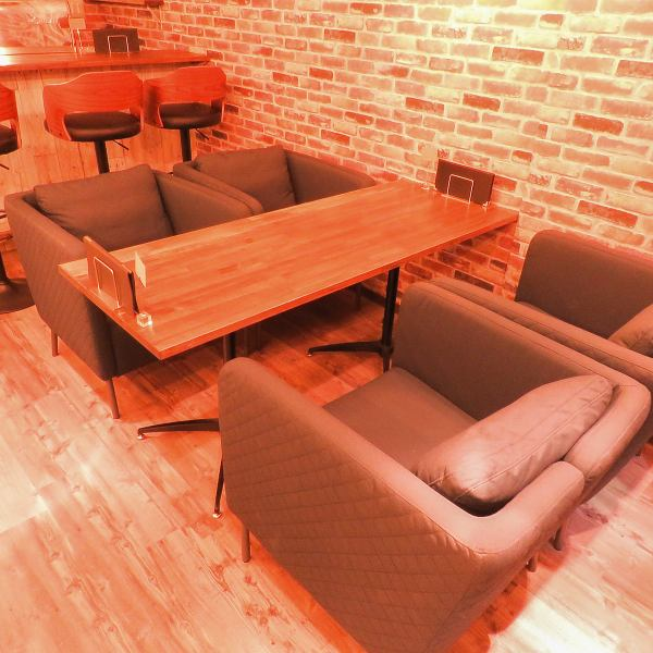 The sofa seats for 1 seat only are seats perfect for girls' societies and mama societies ♪ Enjoy relaxing coffee and meals at the relaxing sofa seat ...