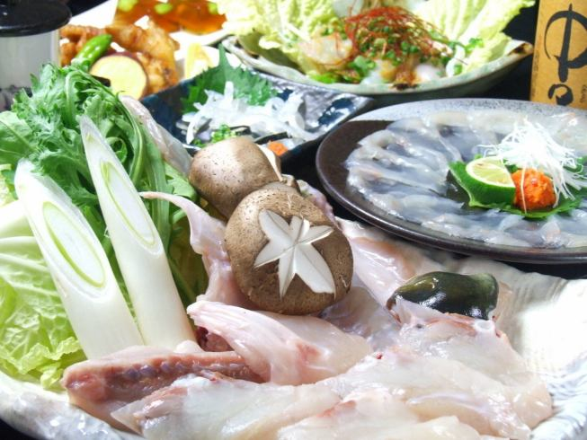 Fugu full enjoyment course 4500 yen Drinking with attaching 5500 yen ~ OK! Large and small 2 people ~ We are waiting for the party reservation!