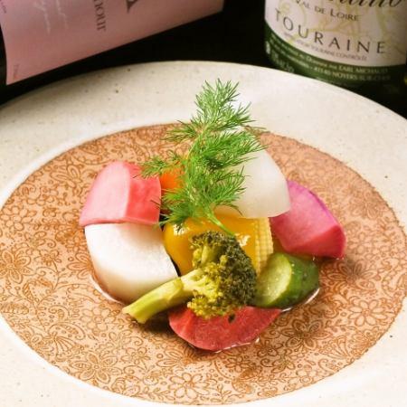 有機野菜の彩りピクルス
