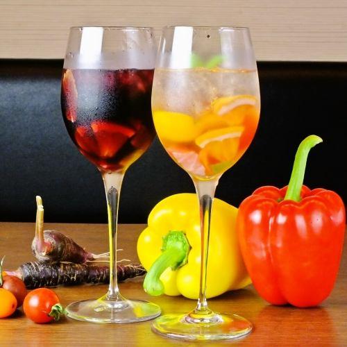 カラフル野菜のサングリア(赤、白)