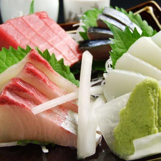旬な鮮魚を使用♪【刺身盛り合わせ】
