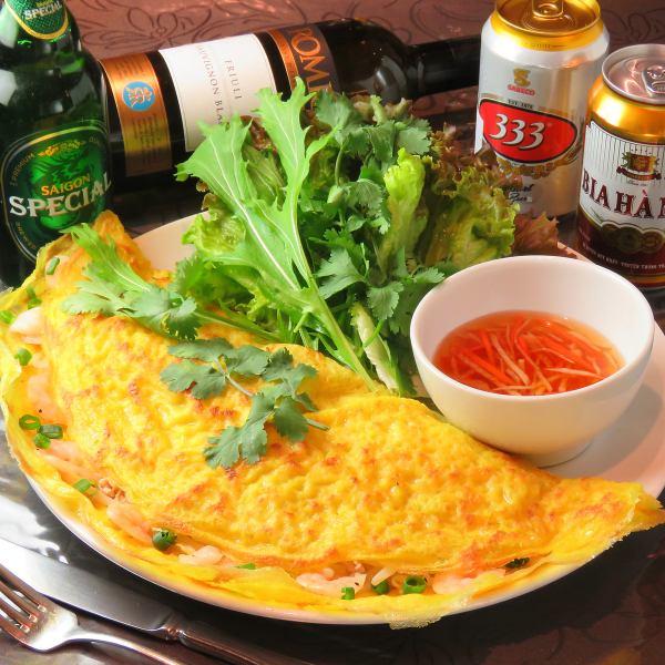ベトナム風お好み焼き「バイン・セオ」