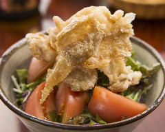 Bird skin crispy salad
