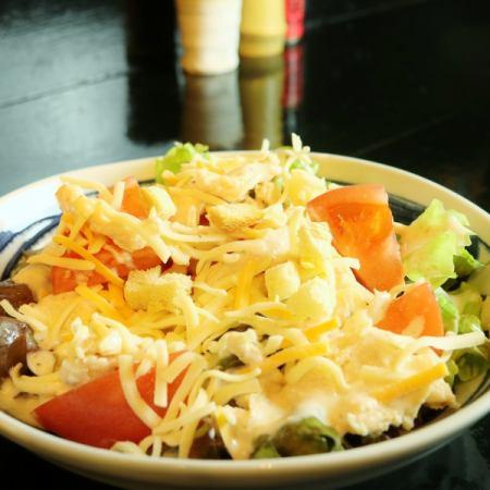 Caesar salad with Tsukuba chicken and cheese