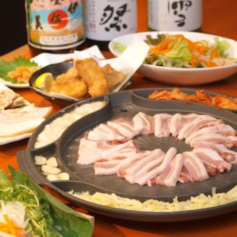 【2 hours drinking attached】 Cheese Samgyeopsal or Shabu Shabu choice course 9 items 3500 yen ♪