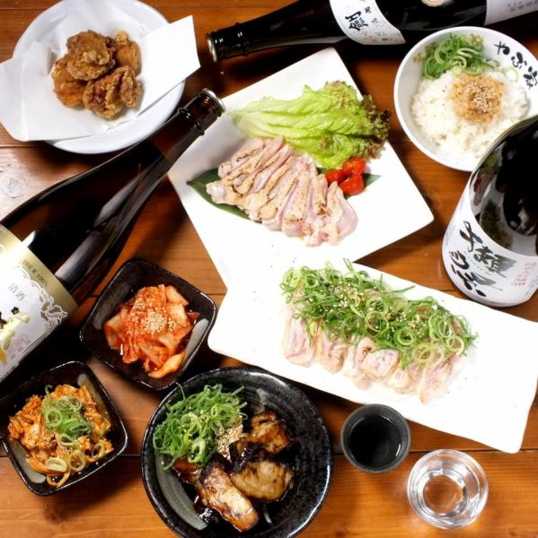 【Banquet ♪】 2 hours with all-you-can-drink all 9 items Tamba chicken course from 3500 yen ~ Popular Niatake chicken's Tata and rice bowl of Niwa chicken ◎ ~