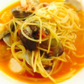 Seafood Marinara style tomato pasta