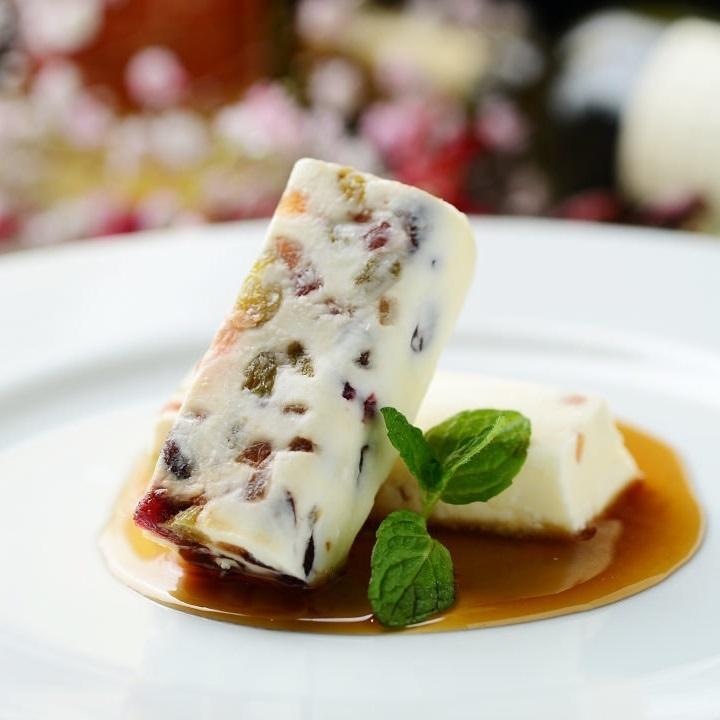 Frozen black cheesecake