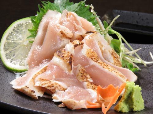 【九州銘柄】 赤鶏のたたき わさび醤油で