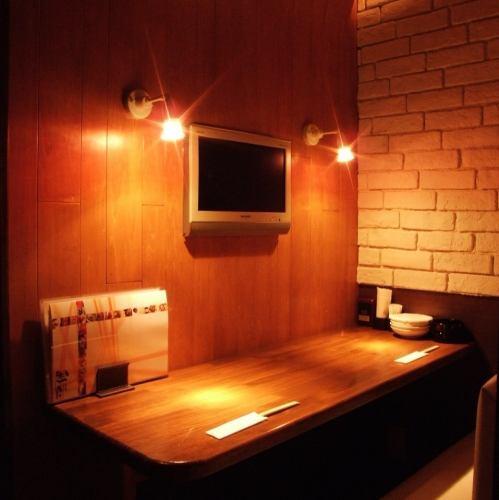 TVモニター付の個室が人気